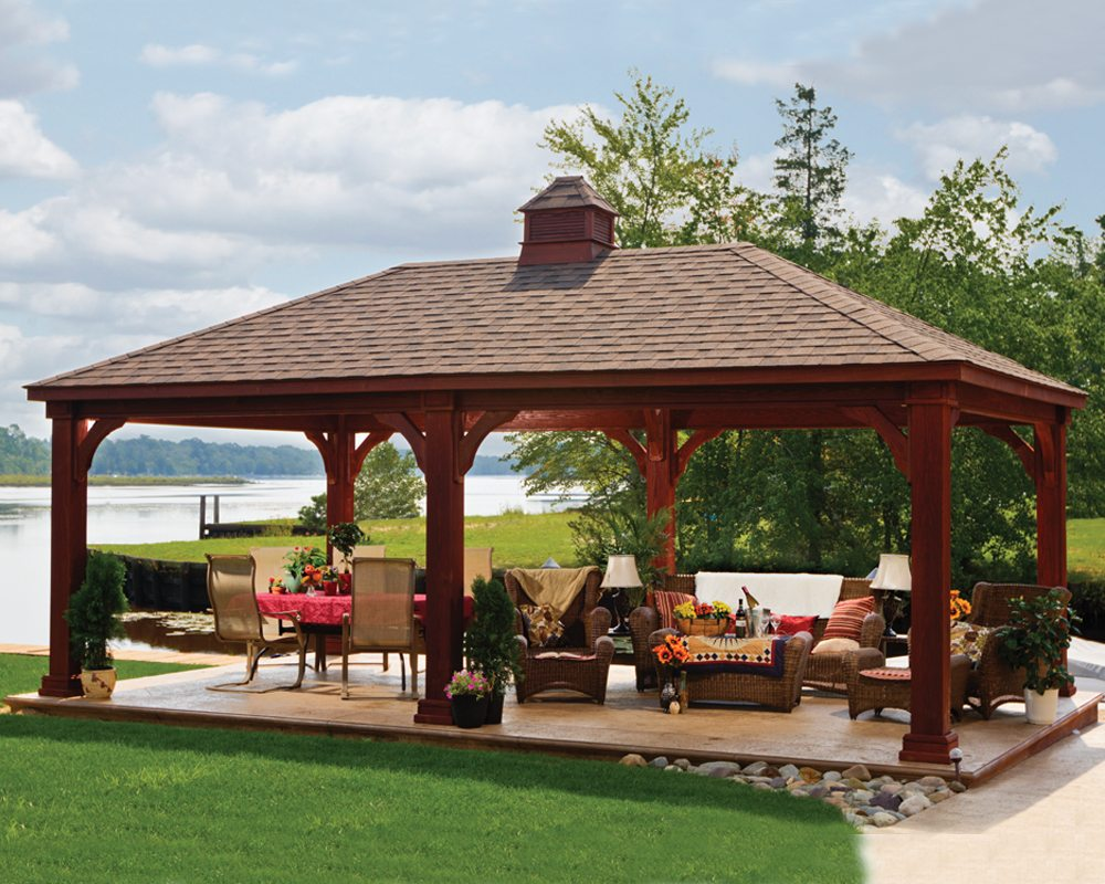 Santa fe wooden pavilion green acres outdoor living for Pavilion cost per square foot