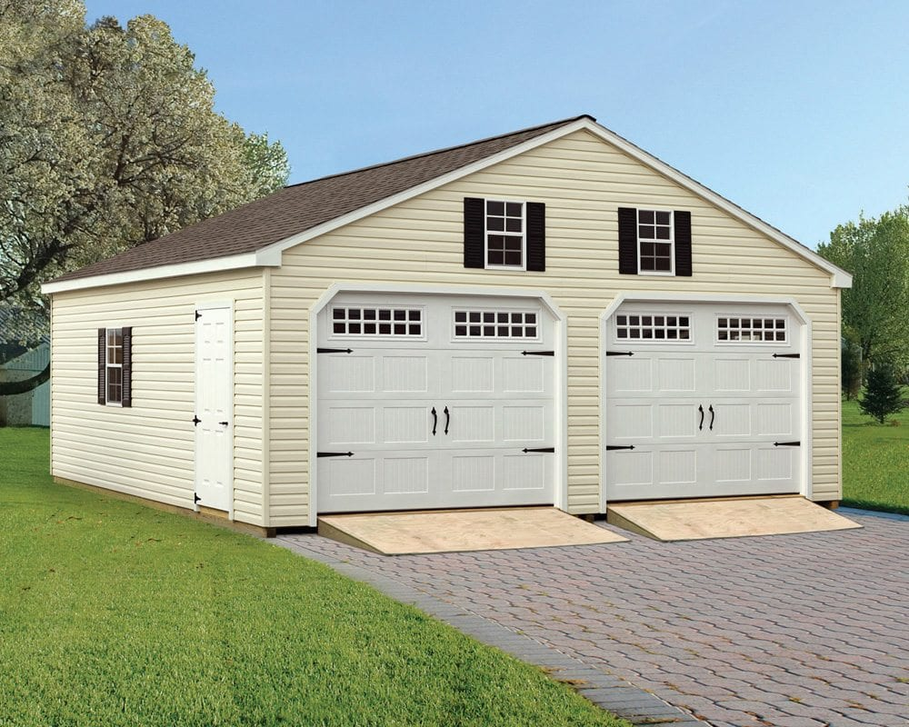 Vinyl Car Ports : Vinyl double garages in pa and nj green acres outdoor