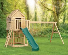 Wooden Swingset Jefferson Tree House