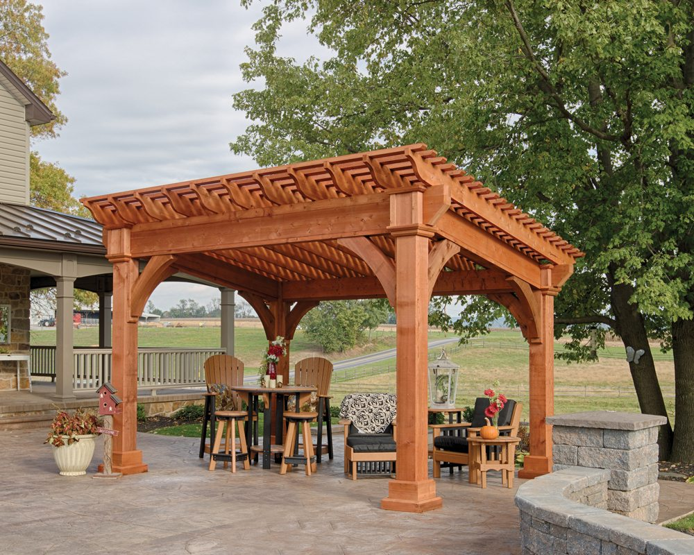 Santa Fe Wooden Pergola Green Acres Outdoor Living