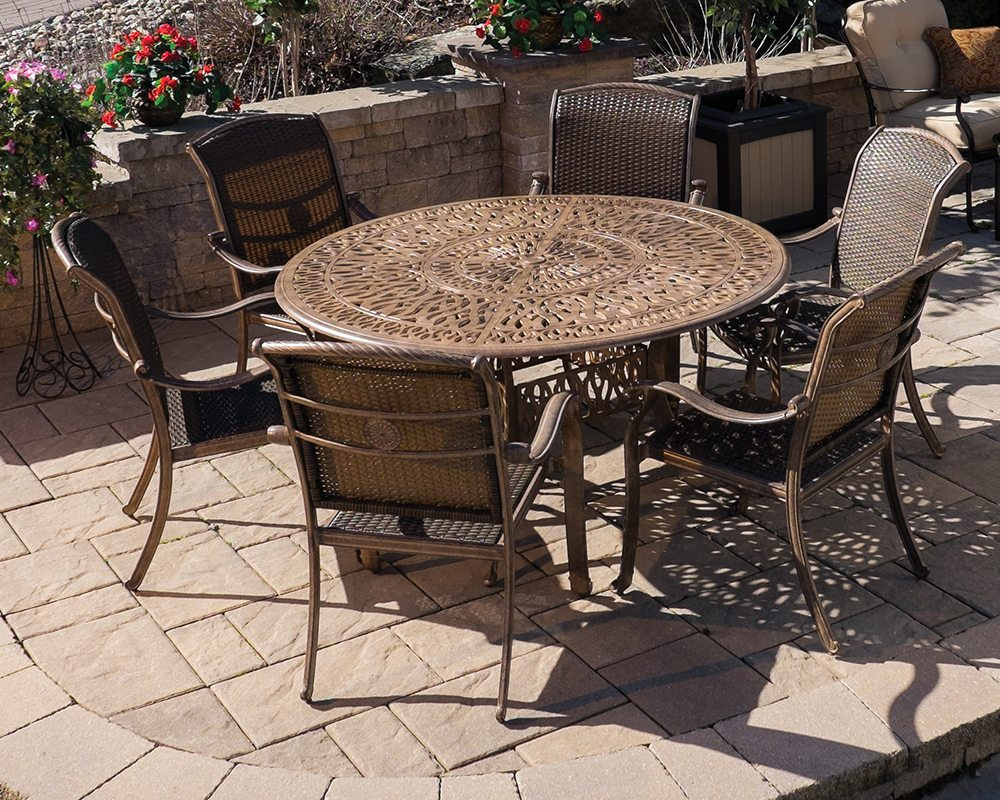 Lillian 60 Round Table Set Green Acres Outdoor Living