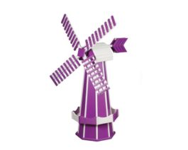 Purple & White Windmill