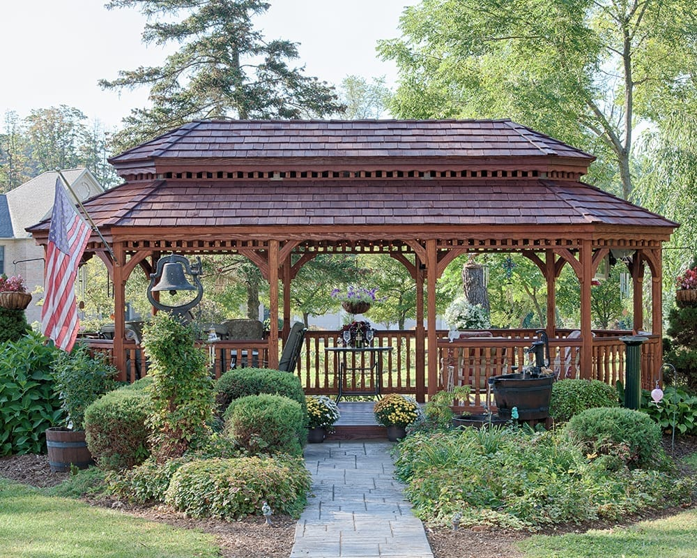 12x24 Oval Wooden Gazebo