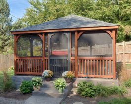 16x16 Rectangular Wooden Gazebo
