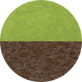 Finch lime green and brown poly sample.