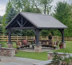 14'x16' Alpine Cedar Wood Pavilion