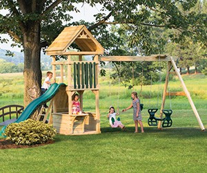 4 x 4 Challenger - Wooden Swing Set