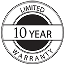 10 Year Warranty Logo.