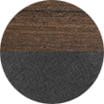 Berlin Gardens Brazilian Walnut & Black Color Sample.