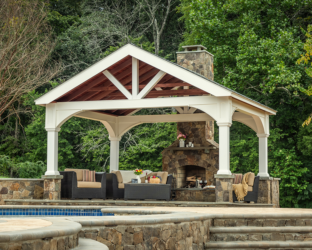 Country Lane Traditional Vinyl A-Frame Pavilion
