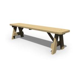 Patiova Wooden 66 Bench